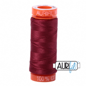 Aurifil 50 Cotton Thread - 2460 (Dark Carmine Red)